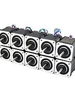 3d принтер nema 17 шаговый двигатель линейный винт 2-фазный 3d принтер гравировальный станок (комплект из 10 шт.)