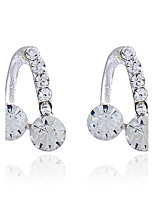 Women's Stud Earrings Basic Classic Rhinestone Alloy Jewelry For Party Gift Casual Evening Party Date