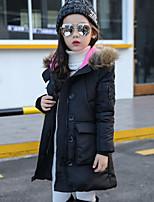 Девочки На пуховой / хлопковой подкладке Полиэстер Пэчворк Осень Зима Длинный рукав