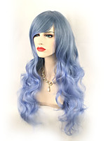 Cosplay Wigs Long Body Wave with Bang Synthetic Wig Ombre Hair Durable High Temperature