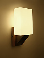 3 E27 Simple Country Feature for Eye ProtectionAmbient Light Wall Sconces Wall Light Solid Wood Bedroom Bedside Lamp