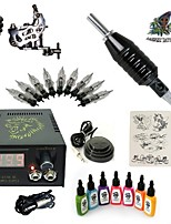 Basekey High Born Tattoo Kit H015-A15 1 Machine With 7 Inks Power Supply 10PCS Needles