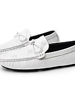 Men's Loafers & Slip-Ons Moccasin Fall Winter Nappa Leather Casual Party & Evening White Black Blue Flat