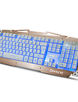 RUYINIAO M-500S Metal Gaming Backlit Keyboard 104 Keys USB Cable