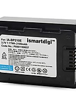 Ismartdigi BP210 3.7V 1200mAh Camera Battery for Samsung IA-BP210E F70 F50 F40 F800 F900