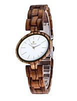 Жен. Часы Дерево Японский Кварцевый деревянный Дерево Группа С подвесками Люкс Элегантные часы Коричневый