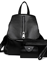 Women Bags All Seasons PU Bag Set with for Casual Black