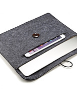 Wooden Buckle Felt Tablet PC Bag Lined with Blanket Liner  13 Inches