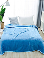 Coral fleece Solid Poly/Cotton Blend Blankets