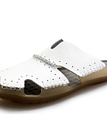 Men's Sandals Comfort Spring Fall Winter PU Casual Flat Heel White Black Light Brown Flat