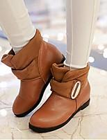 Feminino Sapatos Couro Ecológico Outono Inverno Conforto Rasos Para Casual Branco Preto Amarelo