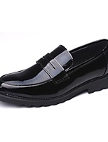 Men's Loafers & Slip-Ons Comfort Patent Leather Casual Low Heel Black