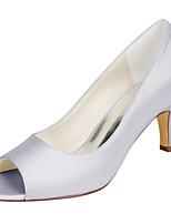Women's Wedding Shoes Basic Pump Stretch Satin Spring Summer Wedding Party & Evening Stiletto HeelIvory Champagne Blushing Pink Sliver