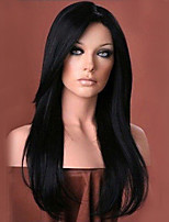 Ethereal Black Natural Long Hair Synthetic Wigs For Women