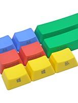 9 llaves pbt colorido keycap conjunto de lado del teclado mecánico impreso