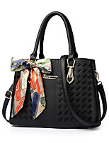 Women Bags All Seasons PU Tote with for Formal Office & Career Blushing Pink Gray Purple Army Green Dark Red