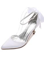 Femme Chaussures de mariage Confort D'Orsay & Deux Pièces Escarpin Basique Satin Printemps Eté Mariage Habillé Soirée & EvénementStrass