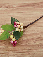 5 Pièces 5 Une succursale Soie Mousse de polystyrène Polyester Plantes Fleur de Table Fleurs artificielles