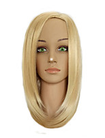 Woman Middle Part  Bobo Wig Medium Length Straight Golden Blonde Mixed Synthetic Hair Wigs