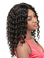 Premier® Affordable Brazilian Human Virgin Unprocessed Curly Hair Glueless Lace Front Hair Wigs For Women With Baby Hair Bleached Knots Hairline