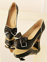 Women's Shoes PU Spring Comfort Heels Chunky Heel With For Casual Black Beige Blue Blushing Pink