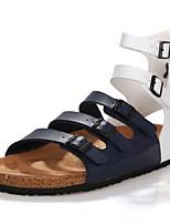 Men's Sandals Comfort Ankle Strap Synthetic Microfiber PU Summer Casual Outdoor Office & Career Party & Evening Lace-up Flat Heel