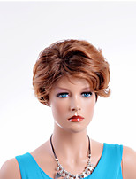 Natural Wig Puffy Short Length High Temperature Heat Resistant Capless Synthetic Hair