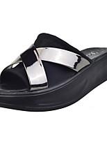 Women's Slippers & Flip-Flops Light Soles Spring Fall PU Casual Creepers Dark Grey Purple 2in-2 3/4in