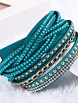 Women's Leather Bracelet Multi Layer Handmade Classic Leather Circle Jewelry For Wedding Daily Casual Valentine Going out