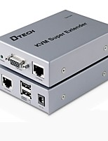DTech VGA USB Type B Switch/Extender VGA USB Type B to VGA USB 2.0 RJ45 Switch Female - Female Extend up to 50M