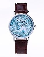 Муж. Жен. Модные часы Наручные часы Уникальный творческий часы Китайский Кварцевый PU Группа Винтаж Повседневная Элегантные часы Черный