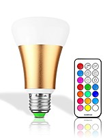 10W LED Smart Bulbs 32 Integrate LED 550 lm RGBWarm RGBWhite Remote-Controlled Decorative Dimmable AC 85-265 V 1 pc