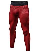 Hombre Pantalones ajustados de running Gimnasio, Correr & Yoga Secado rápido Diseño Anatómico Transpirable Ligeras Deportes Medias/Mallas
