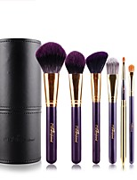 8 Makeup Brush Set Synthetic Hair Portable Adjustable Easy Carrying Easy to Carry Aluminum Wood Men Face Men and Women Eye Daily Eyes