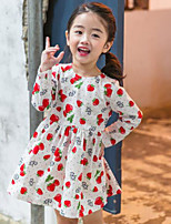 Robe Fille de Imprimé Coton