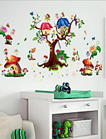 Floral/Botanical Wall Stickers Plane Wall Stickers Decorative Wall Stickers,Plastic Material Home Decoration Wall Decal