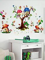 Floral/Botánico Pegatinas de pared Calcomanías de Aviones para Pared Calcomanías Decorativas de Pared Material Decoración hogareñaVinilos