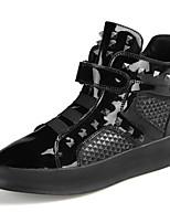 Men's Boot Comfort Fall Winter PU Casual Outdoor Rivet Gore Magic Tape Flat Heel Silver Black Flat