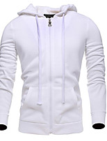 Men's Casual/Daily Hoodie Solid Hooded Micro-elastic Cotton Sleeveless Spring Fall