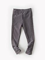 Pantaloni Da ragazza Cotone Tinta unita Autunno