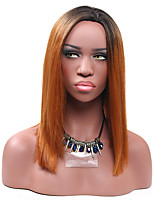 Medium Brown Straight Wig for Women Costume Cosplay Synthetic Wigs