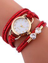 Ladies Watch Lady Weave Leather Watch Rope Braided Crystal Clock Designer Wrap Around Watch With Diamond for Lady