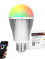 E27 9W 2.4GHz RGB White Light Promise Dimming Mobile Phone Wifi Control Wireless Remote Control Smart Bulb Lighting AC85 - 265V with WiFi Controller