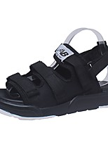 Men's Sandals Comfort Spring Summer PU Casual Low Heel Black Under 1in