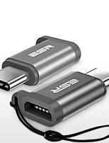 Micro USB 2.0 Adaptateur, Micro USB 2.0 to USB 2.0 Type C Adaptateur Mâle - Femelle