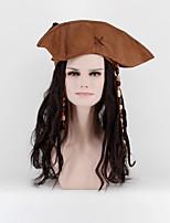 Парики из искусственных волос Без шапочки-основы Длиный Свободные волны Черный Парик из натуральных волос Карнавальные парики