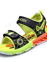 Boys' Sandals Comfort Gladiator Light Soles Spring Summer PU Casual Outdoor Magic Tape Flat Heel Ruby Black/Yellow Royal Blue Under 1in