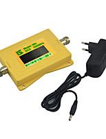 Mini display inteligente dcs 1800mhz repetidor de sinal de sinal de telefone celular dcs980 com fonte de alimentação 5v amarelo