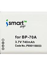 Ismartdigi BP70A 3.7V 740mAh Camera Battery for Samsung SLB-70A BP70A ES65 ES67 ES70 ES73