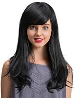 Высококачественные очаровательные черные длинные человеческие волосы парики для женщин